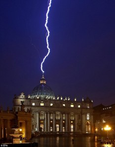 St. Peter's lightening